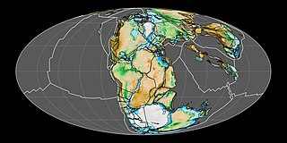 Pangaea Supercontinent from the late Paleozoic to early Mesozoic eras