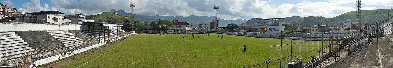 Vista panorâmica do Estádio Louis Ensch durante partida de futebol amador  do Social b5bf0744a6305
