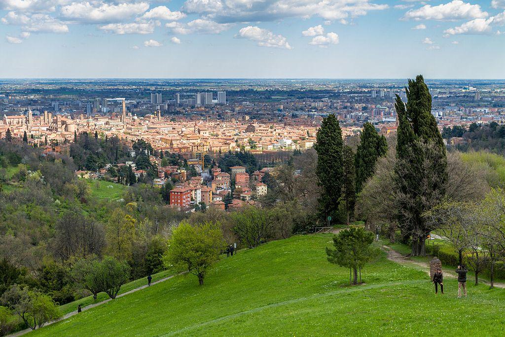 Vue sur Bologne depuis le parc de la Villa Ghigi.
