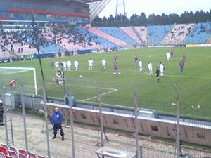 Pantelis Kapetanos - Kapetanos preparing to take a penalty during a match with Internaţional Curtea de Argeş