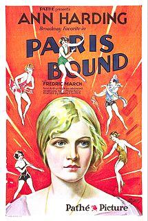 <i>Paris Bound</i> 1929 film by Edward H. Griffith