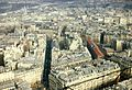 Paris View from the Eiffel Tower second floor Rue de Monttessuy 1970.jpg