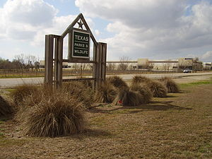 English: Sign for Texas Parks and Wildlife Dep...