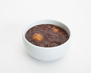 Red bean soup - A bowl of patjuk (red bean porridge)