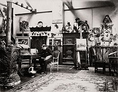 Paul-Léon Jazet in his Paris studio (c1885).jpg