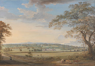 A View of Vinters at Boxley, Kent, with Mr. Whatman's Turkey Paper Mills