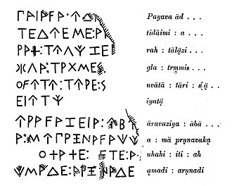 Lycia - The inscription on the front of the tomb of Payava.