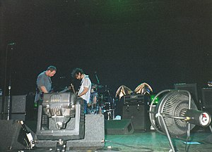 The Frogs (band) - Flemion's bat wings on display at a 2000 Pearl Jam concert