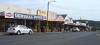 Pemberton, Western Australia - Pemberton main street.