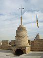 Penell i accés a la terrassa superior, torres de Serrans.JPG
