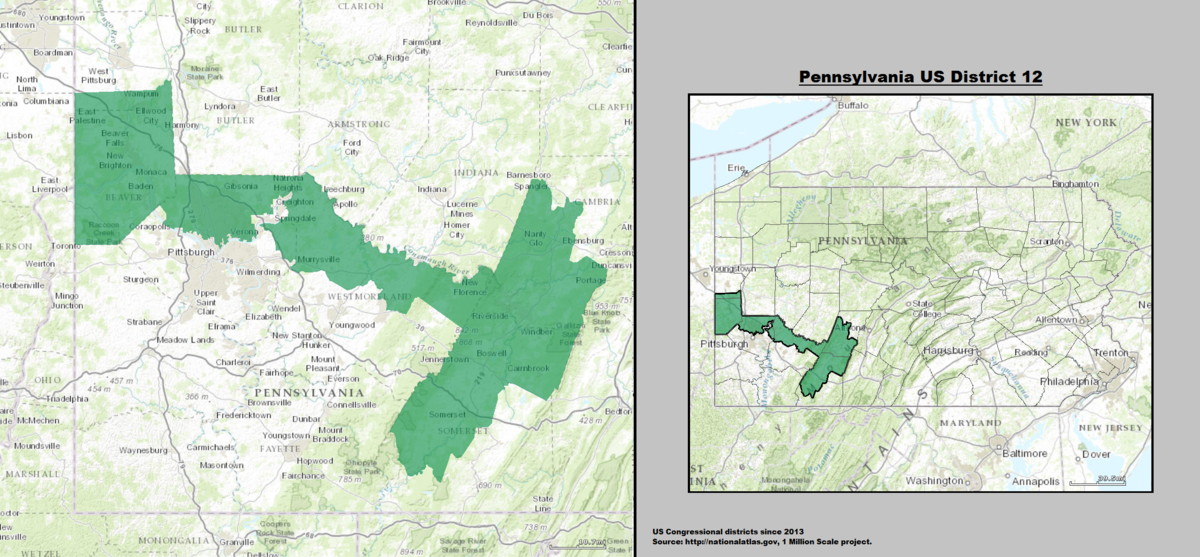 Pennsylvanias Th Congressional District Wikipedia - Us 2011 congressional district map