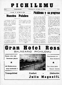 Periódico Pichilemu - N° 1 - 31 de enero de 1944 - 01.jpg