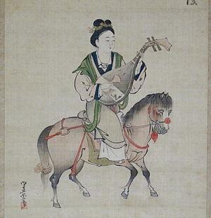 Wang Zhaojun - Image: Periodo edo, kosumi morihage, wang zhaojun, XVII sec. 02