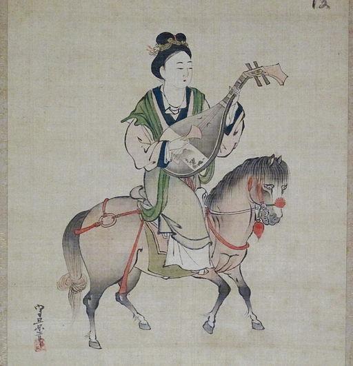 Periodo edo, kosumi morihage, wang zhaojun, XVII sec. 02