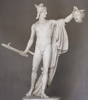 Perseus with the Head of Medusa - Image: Perseus Canova Pio Clementino Inv 969