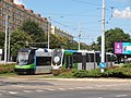 Pesa 120NaS 807 and Moderus Beta 601 on Rodła Square in Szczecin, 2018.jpg
