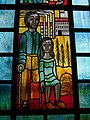 Pestkapelle Stiefenhofen, Glasbild links unten, Fortschritt und Krankheit.jpg