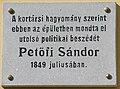 Petőfi Sándor2 Plaque Gyula.jpg
