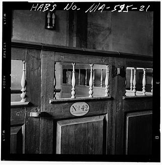 Pew - Detail of pew 42, Old Ship Church, Hingham, Massachusetts, United States