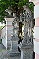 Pfarrkirche Verklärung Christi, Murstetten - statues of John Nepomuk & Anthony.jpg