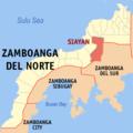 Ph locator zamboanga del norte siayan.png
