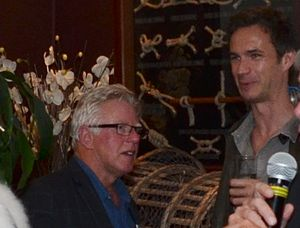 Phil Davis (actor) - Phil Davis (left) and James D'Arcy at the Dinard Festival of British Cinema 2016