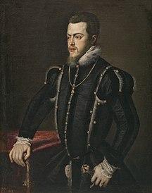 フィリピン-国名-Philip II portrait by Titian