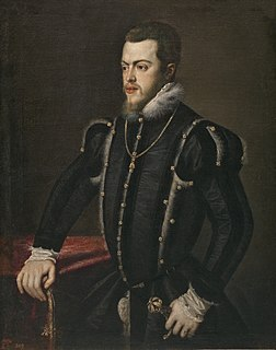 Philip II of Spain King of Spain and King of England by marriage to Mary I