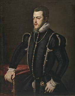 Philip II of Spain, Philip I of Portugal, portrait by Titian Philip II portrait by Titian.jpg
