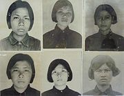 Photos of victims in Tuol Sleng prison