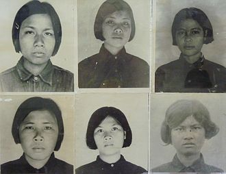 Khmer Rouge - Rooms of the Tuol Sleng Genocide Museum contain thousands of photos taken by the Khmer Rouge of their victims