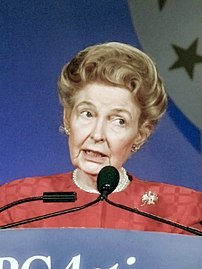 Phyllis Schlafly in 2007 in Washington, DC at ...