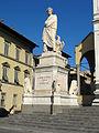 Piazza santa croce, monumento all'alighieri.JPG