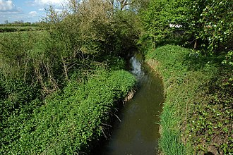 Piddle Brook - Piddle Brook flowing through Naunton Beauchamp