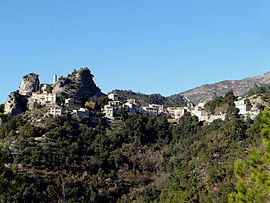 A general view of the village of Pierrefeu