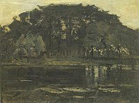 Piet Mondriaan - Geinrust farm with three small trees at left - A442 - Piet Mondrian, catalogue raisonné.jpg