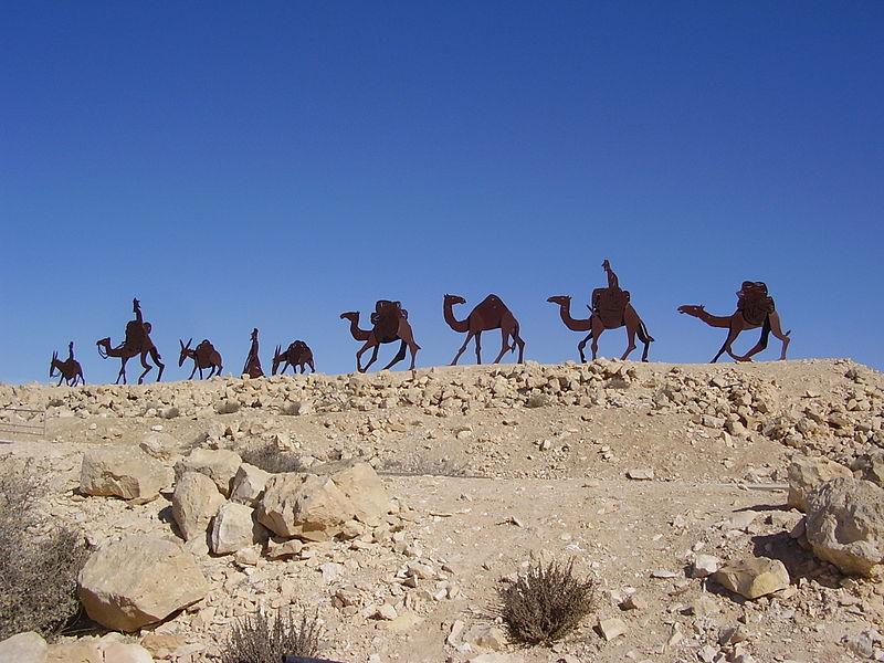 שיירת גמלים בעבדת