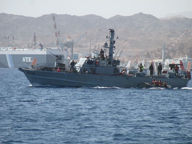 ספינת סיור של חיל הים במפרץ אילת