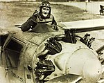 Pilot Ernie Smith in unregistered prototype Travel Air 5000.jpg