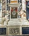 Pinturicchio, liberia piccolomini, 1502-07 circa, stemma piccolomini 2.JPG