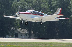 Piper PA-24 Comanche - PA-24-260 with LoPresti Cowling on landing