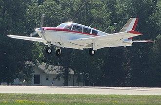 Piper PA-24 Comanche - PA-24-260 with LoPresti Cowling on landing