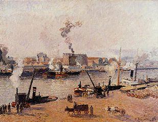 Foggy morning, Rouen