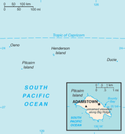Isole Pitcairn - Mappa