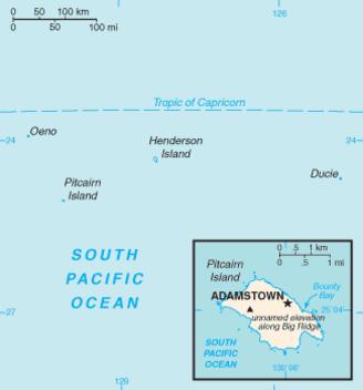 Pitcairn Islands-CIA WFB Map