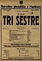 Plakat za predstavo Tri sestre v Narodnem gledališču v Mariboru 25. aprila 1925.jpg