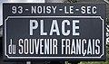 Plaque Place Souvenir Français - Noisy-le-Sec (FR93) - 2021-04-16 - 1.jpg