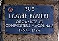Plaque Rue Lazare Rameau - Mâcon (FR71) - 2020-12-22 - 1.jpg
