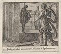 Plate 143- Anaxarete Seeing the Dead Iphis (Iphidis suspendium animaduertens Anaxarete in lapidem mutatur), from Ovid's 'Metamorphoses' MET DP864234.jpg