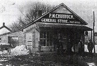 Rice, Kansas - General store and Post Office in Rice.